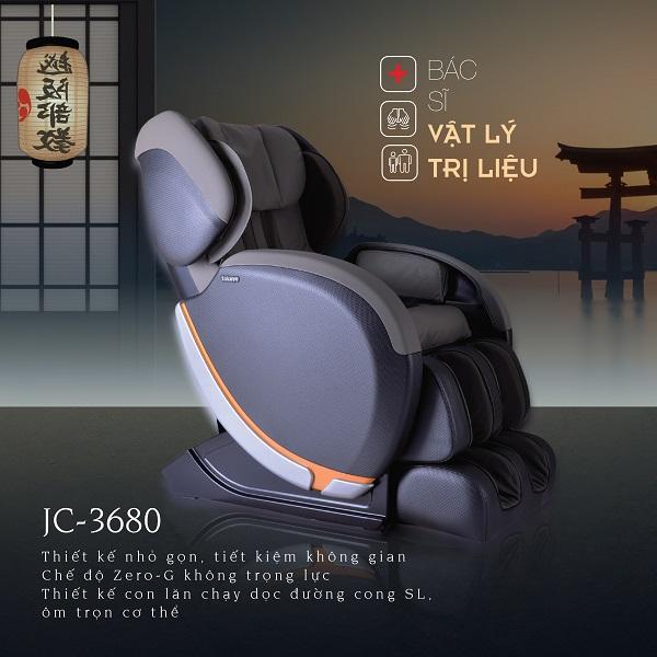 Ghế Massage Nhật Bản JC-3680 Made in Japan (Bác Sĩ Vật Lý Trị Liệu)