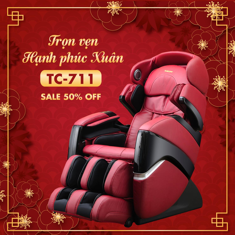Ghế Massage Toàn Thân 4D Plus TC-711 (Đẳng Cấp Hoàng Gia)