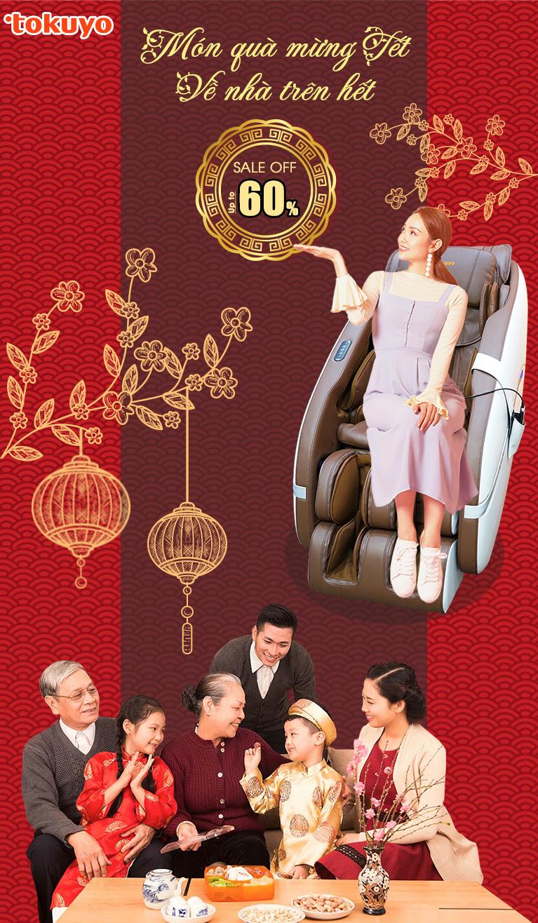 Ghế Massage Tokuyo - Thay đổi cuộc sống của bạn