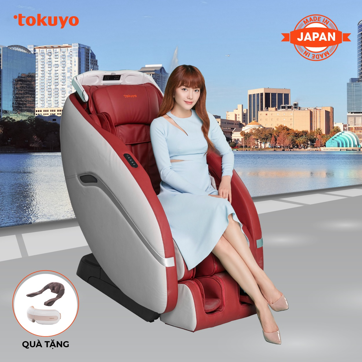 Ghế Massage Toàn Thân Tokuyo JC-3730 (Made In Japan)