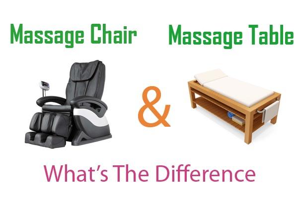 Phân biệt sự khác nhau giữa ghế massage và giường massage