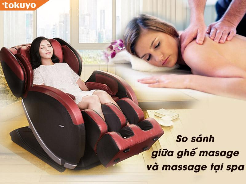 So Sánh giữa ngồi Ghế Massage và sử dụng dịch vụ massage tại spa