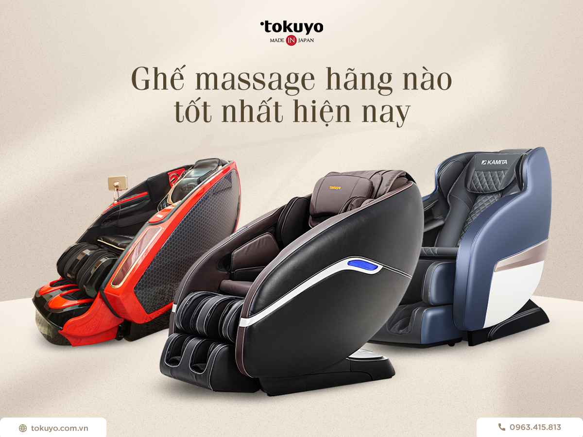 Ghế massage hãng nào tốt nhất hiện nay? Nên mua ghế massage của thương hiệu nào?