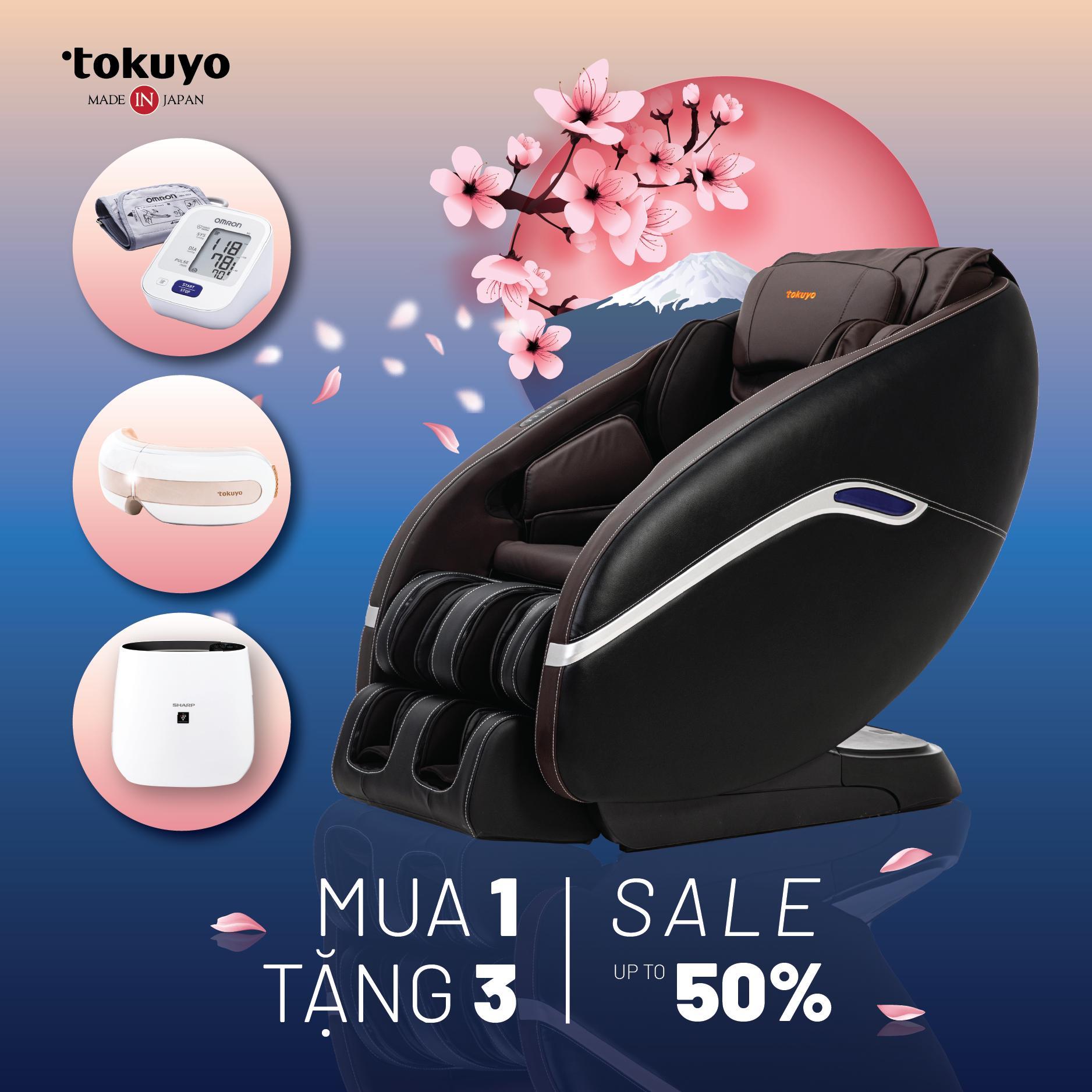 Ghế Massage Sản Xuất Tại Nội Địa Nhật - Tokuyo JC-3730
