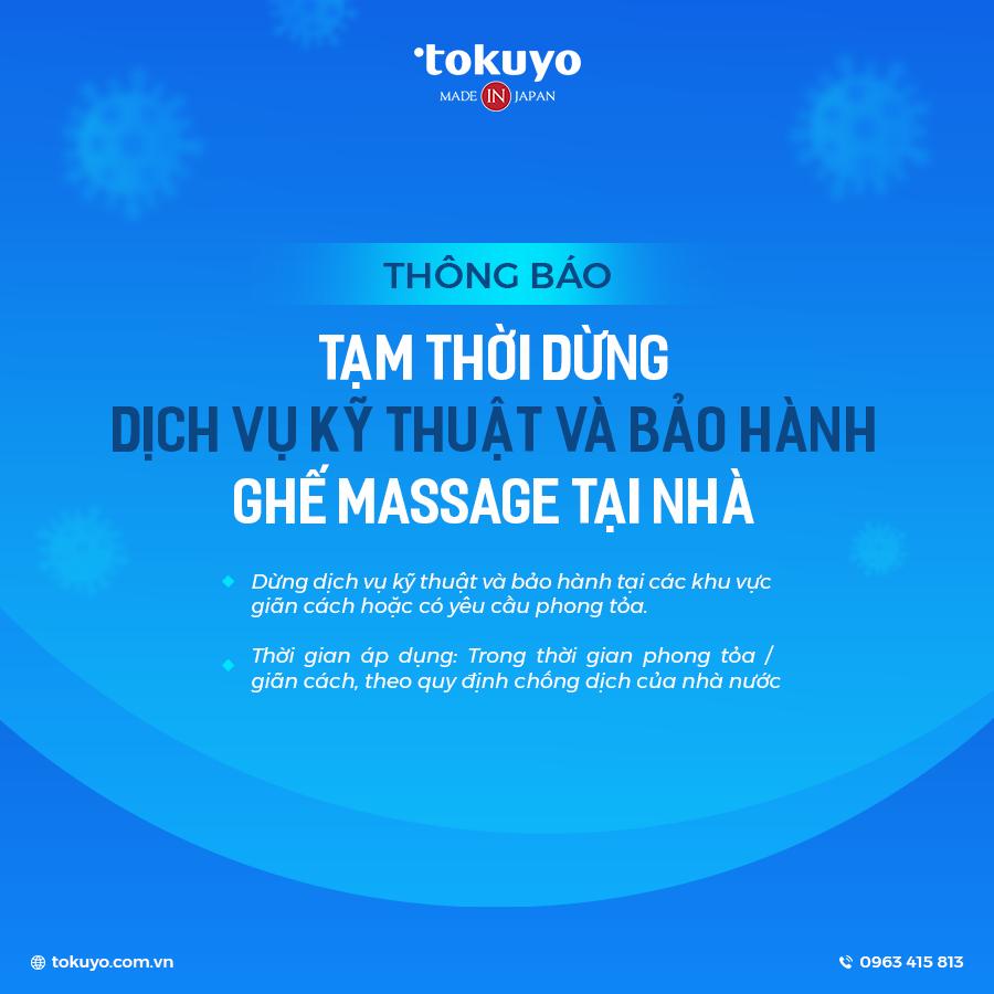 Thông báo: Tạm dừng dịch vụ kỹ thuật và bảo hành ghế massage tại nhà