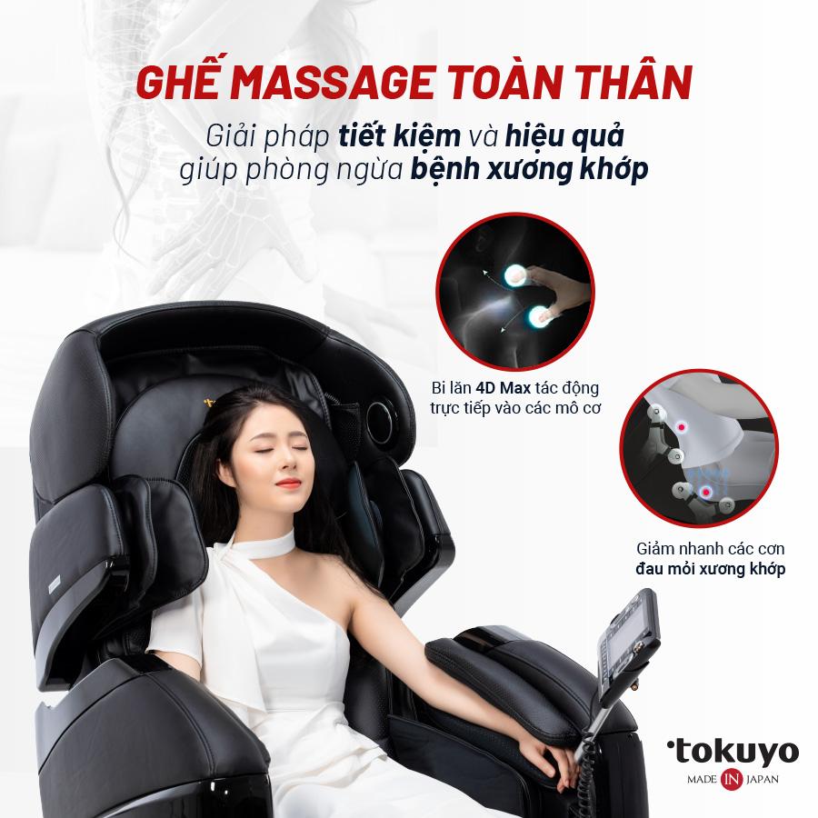 Top 3 ghế matxa trị liệu Tokuyo giá tốt nhất hiện nay