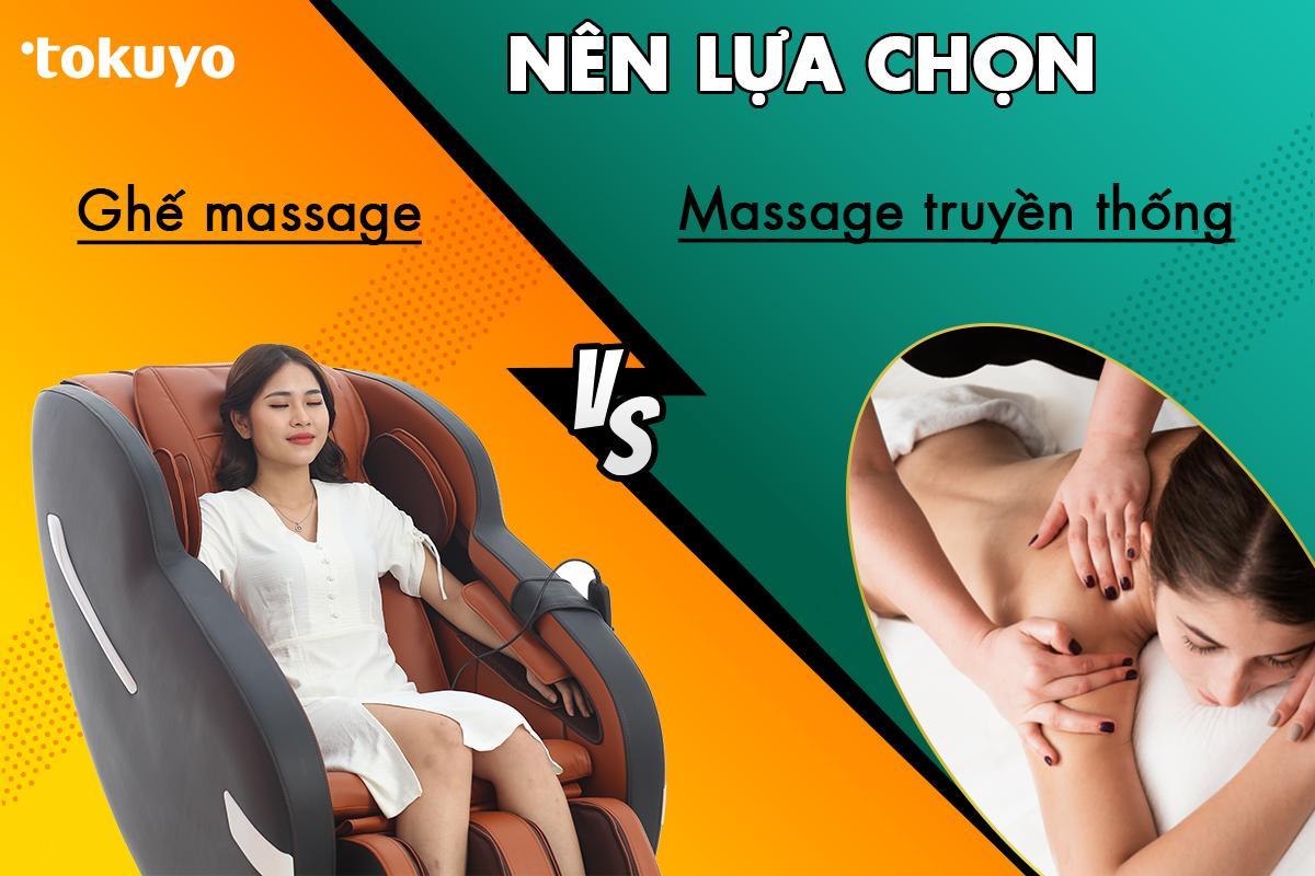Nên chọn massage trị liệu hay ghế massage toàn thân