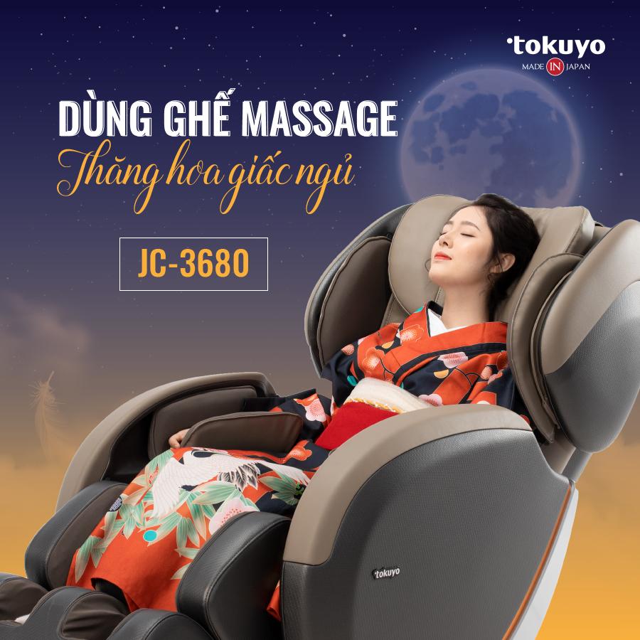 Bật mí về công dụng hỗ trợ điều trị mất ngủ của ghế massage toàn thân Tokuyo