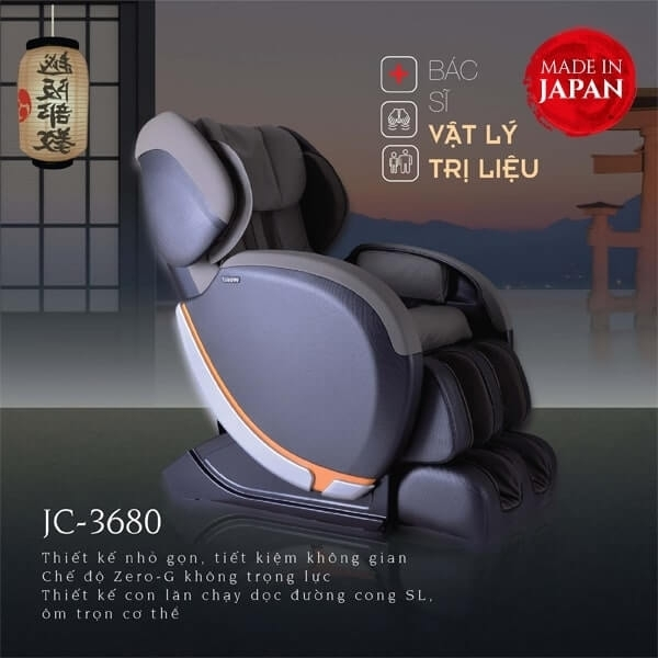 Ghế Massage Nhật Bản JC-3680 (Made in Japan)