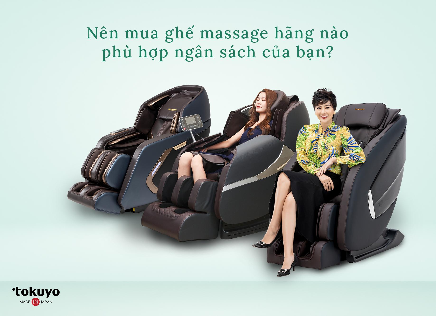 Nên mua ghế massage hãng nào uy tín 2021?