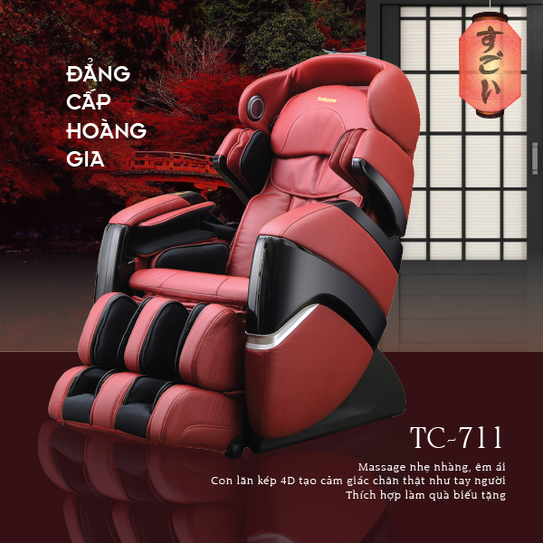 Những ưu điểm tuyệt vời chỉ có trên ghế massage Tokuyo