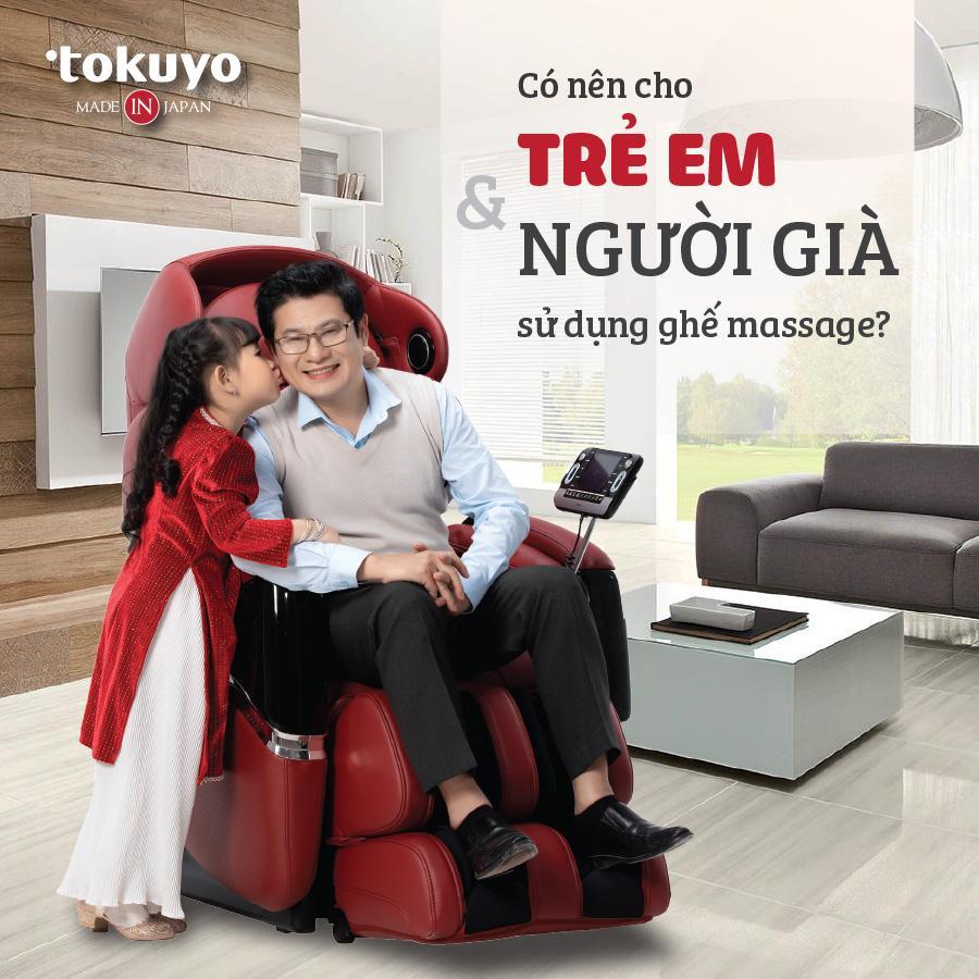 Ghế massage có an toàn với người già và trẻ nhỏ?