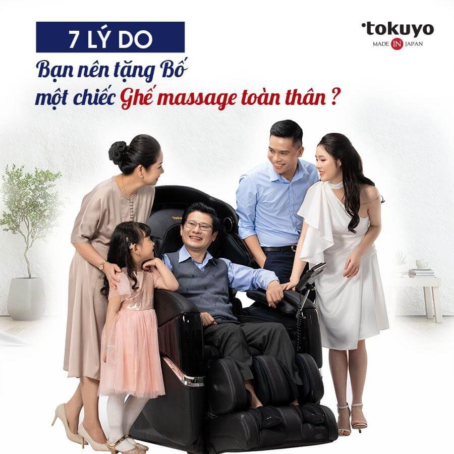 7 lý do mà bạn nên tặng bố một chiếc ghế massage